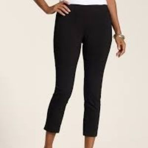 CHICO'S So Slimming Black Pull-On Crops 00 = XS|2